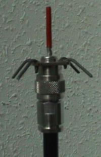 Antenna mounted on N-type cable.